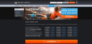 Big Bet World Superpay Angebot