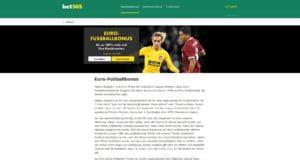 bet365 Euro Fussballbonus