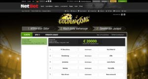 NetBet Golden Goal Aktion