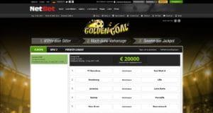 NetBet Golden Goal Aktion
