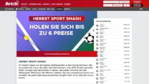 Betclic Herbst Sport Smash